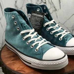 Converse Shoes - Converse Green Suede All-Star Chuck